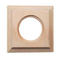 Plaque 1 poste carré bois...
