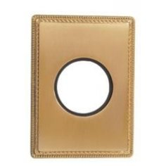 Plaque 1 poste métal doré...