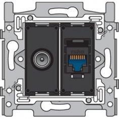 Mécanisme prise TV+RJ45...