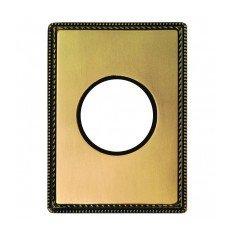 Plaque 1 poste métal bronze...