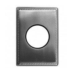 Plaque 1 poste métal nickel...