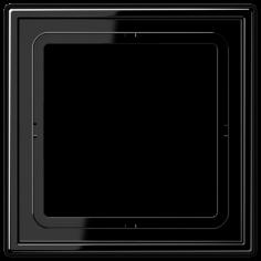 Plaque 1 poste noir LS990 JUNG