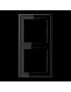 Plaque 2 postes noir LS990...