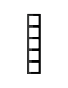Plaque 5 postes noir LS990...