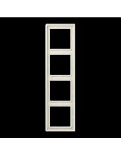 Plaque 4 postes blanc LS990...