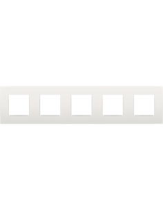 Plaque 5 postes white...