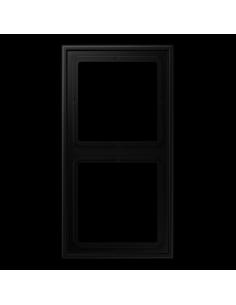 Plaque 2 postes noir mat...